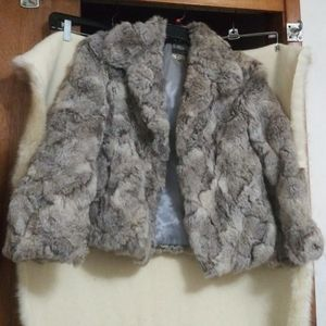 Vtg)D.D. Sloane Rabbit Fur Coat